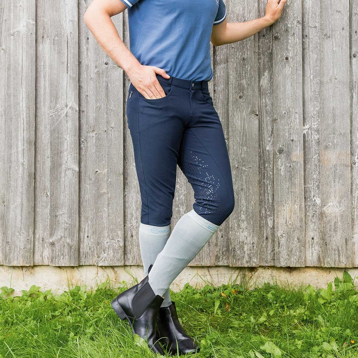 Mens Cool Star Breeches Dark Blue Work Horse Tack